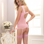 Leg Avenue 2 Piece Cami Garter and GString
