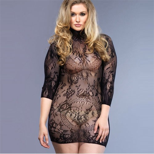 Leg Avenue Floral Lace Mini Dress UK 16 to 18
