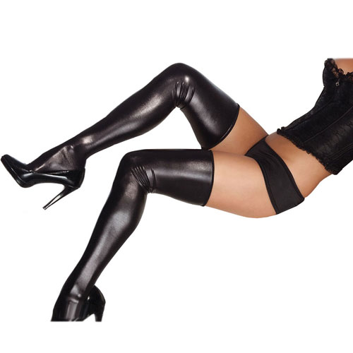 Coquette Wet look Stockings UK 16 to 20