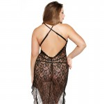 Fantasy Curve Asymmetrical Lace Dress And GString UK 18 to 22